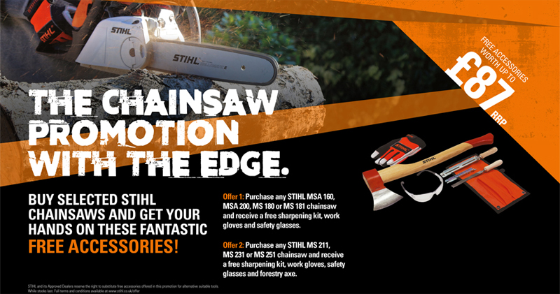 Chainsaw Promotion with the Edge