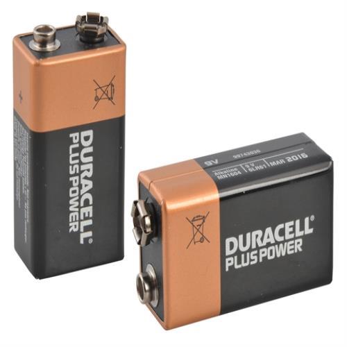 Duracell 9v Cell Plus Power Battery Pack Of 2