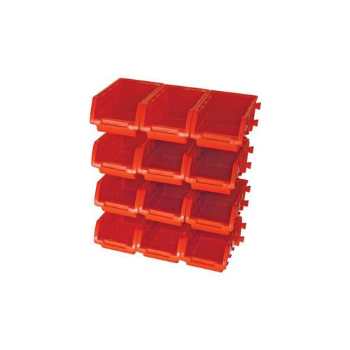 Faithfull 12 Piece Wall Bin Set