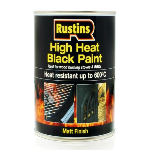 Rustins High 600 Black Paint 500ml Lakedale Power Tools