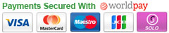 All major credit cards via WorldPay